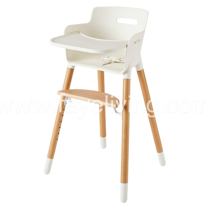 BH05 Modern Wood Baby Feeding Chair Baby High Chair