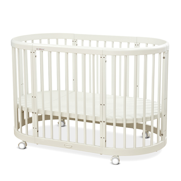 BC14 5in1 Oval Baby Cot Multifunctional Round Baby Bed