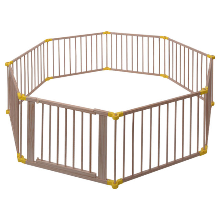 BP02 8Panel European Standard Foldable Wooden Baby Playpen
