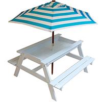 KT05 Outdoor Solid Wood Children Kids Sandpit Picnic table