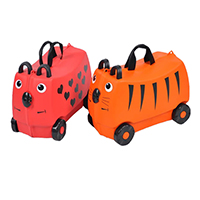 KL01 Kids Ride on Luggage Toys Storage Box Suitcase